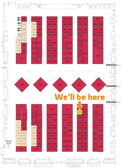 WP-19 Floorplan, Booth 515