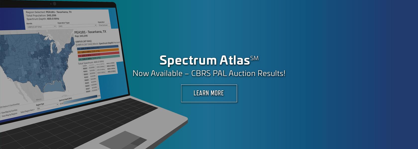 Spectrum Atlas - CBRS PAL Auction Results—Now Available!